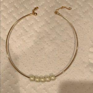 J. Crew Jewelry - J.Crew gold pearl choker